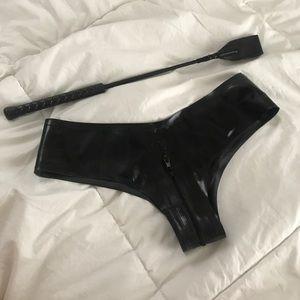 Other - Zip crotch latex panties